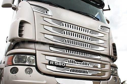 Zestaw kratek atrapy Scania (stal nierdzewna), nr kat. 174093SNRTM - zdjęcie 1