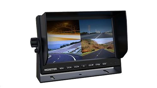 31571022 7 LCD Monitor, cyfrowy panel 800*480, 300 cd, z ramką przeciwsłoneczną, możliwość wyświetlania 4 kamer jednocześnie podłączenie 4 x RCA - zdjęcie 1