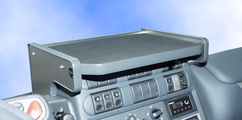 2659IV-06 Półka na środkową konsole Iveco Eurocargo (09/2003-2007) (kolor antracite/aluminium) - zdjęcie 1