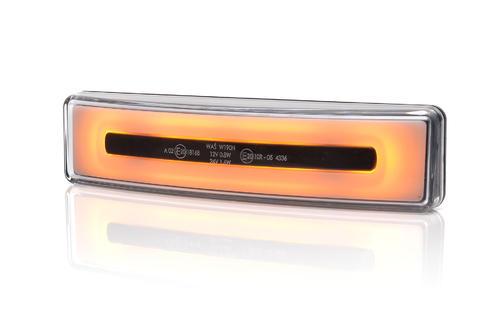 13.1423/I.2 Światło obrysowe Neonowe (pomarańczowe) do osłony preciwsłonecznej SCANIA R, STREAMLINE ze złączem MCP - zdjęcie 1