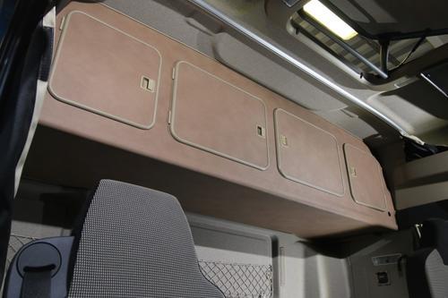 Szafka czterodrzwiowa na tył kabiny do MAN TGX XLX  (cappuccino, beżowa krawędź), nr kat. 265400ES42U09 - zdjęcie 1