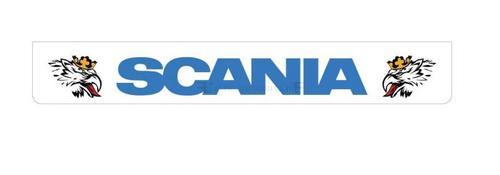Fartuch na naczepę (2500 x 400mm) biały z niebieskim logo do Scania/Svempas, nr kat. 27315050B SC - zdjęcie 1