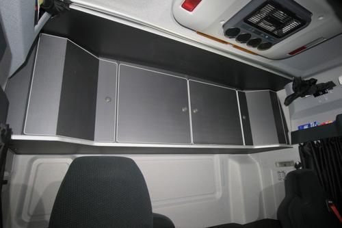 Szafka czterodrzwiowa na tył kabiny do MAN TGS TGA LX (carbon, aluminiowa krawędź), nr kat. 26600ES460U12 - zdjęcie 1