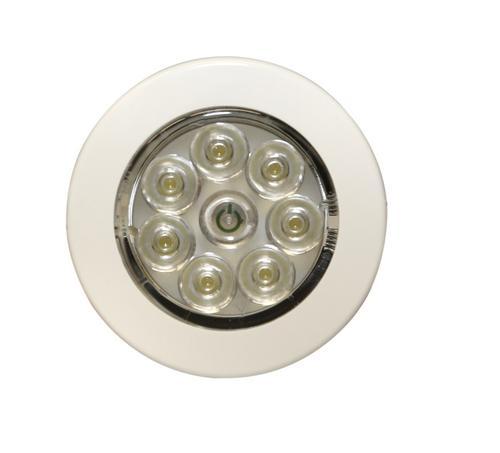 13ew022022 Oświetlenie Wnętrza Led 12v 24v Okrągłe Montowane Na Płasko Zintegrowany Włącznik