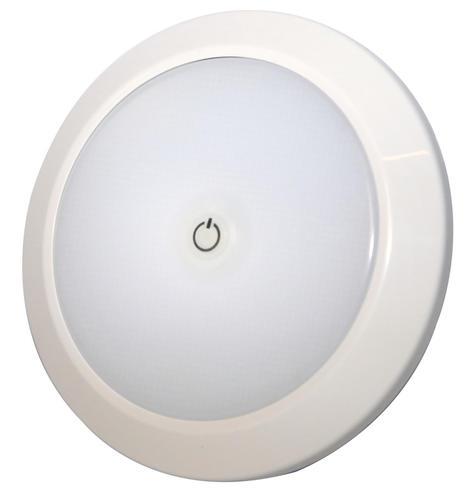 13ew020022 Oświetlenie Wnętrza Led 12v 24v Okrągłe Montowane Na Płasko Matowe Zintegrowany Włącznik