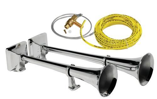 Zestaw sygnałów pneumatycznych HADLEY z zestawem montażowym i elektrozaworem 24V (chromowane, okrągłe, 56 i 48 cm), nr kat. H00859EN242 - zdjęcie 1