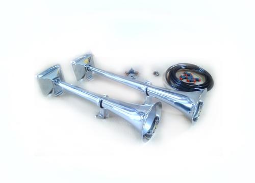 Zestaw sygnałów pneumatycznych HADLEY z zestawem montażowym i elektrozaworem 24V (chromowane, okrągłe, 56 i 48 cm), nr kat. H00859ENA24 - zdjęcie 1