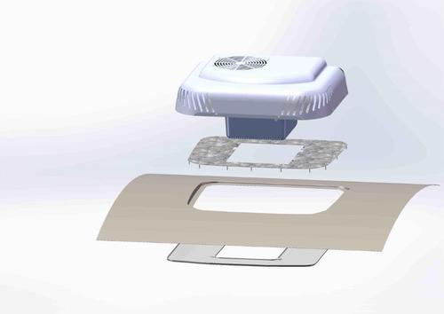 198.010.1302 Klimatyzator dachowy Indel HATCH 24V z panelem wewnętrznym MERCEDES ACTROS MP4 - zdjęcie 1