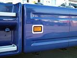 Kontur kierunkowskazu w bocznej osłonie (listwy ozdobne ze stali nierdzewnej) do Scania R-ser do 2009, nr kat. 17TD157SC.53