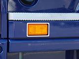 Kontur kierunkowskazu pomiędzy stopniami (listwy ozdobne ze stali nierdzewnej) do Scania R-ser, nr kat. 17TD157SC.52