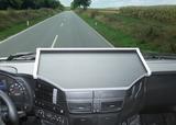 2650IV15U12 Półka na środkową konsolę do  Iveco Stralis Hi-Road/Hi-Street o szerokości 2300mm (2012-) (kolor black/aluminnium)