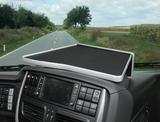 2650IV16U12 Półka na środkową konsolę do pojazdów o szerokości 2500mm Iveco Stralis HI-WAY (2012-) (kolor black/aluminium)