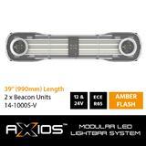 Modułowa belka AXIOS LED (12/24V, 990mm, z dwoma światłami ostrzegawczymi, R65), nr kat. 1314-10005-V22