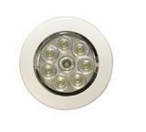 Oświetlenie wnętrza LED (12V/24V, okrągłe, montowane na płasko, zintegrowany włącznik), nr kat. 13EW022022