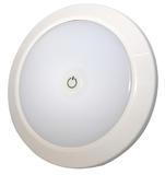 Oświetlenie wnętrza LED (12V/24V, okrągłe, montowane na płasko, matowe, zintegrowany włącznik), nr kat. 13EW020022