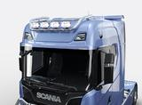 1186461022 Rama dachowa TOP Scania R 2016- i S, spływająca między światła na 4 odbiorniki z wiązką i zaciskami