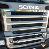 Listwy ozdobne na grill z V8 (stal nierdzewna) do Scania R, nr kat. 17TD157SC.27