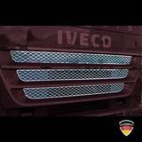 Listwy ozdobne na górny grill (logo i kratki, stal nierdzewna) do IVECO Stralis (> 2007), nr kat. 17TD157IV.30-2